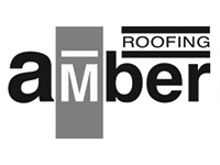 Image shows the black and white logo for Amber Roofing Scotland Ltd